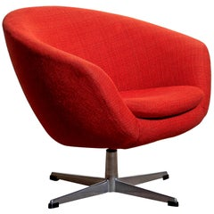 1960s, Swivel Lounge Chair by Carl Eric Klote for Overman, Denmark