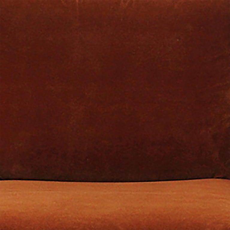 American 1960s Swiveling Russet Velvet Slipper Chair by Milo Baughman for Thayer-Coggin For Sale