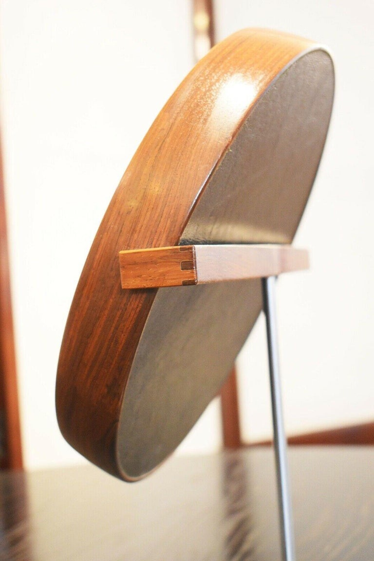 Mid-Century Modern 1960s Table Mirror by Uno & Osten Kristiansson for Luxus, Sweden For Sale