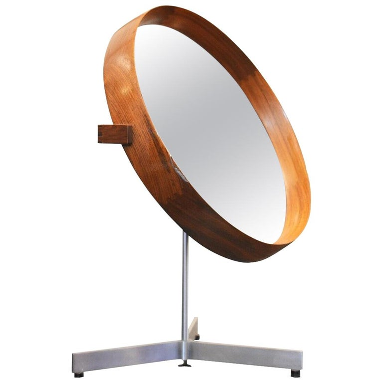1960s Table Mirror by Uno & Osten Kristiansson for Luxus, Sweden For Sale