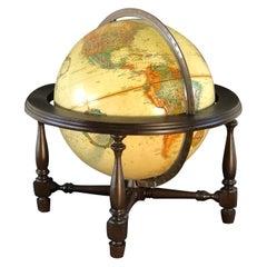 1960s Table Top World Globe