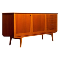 1960s, Teak and Oak Sideboard, Sweden