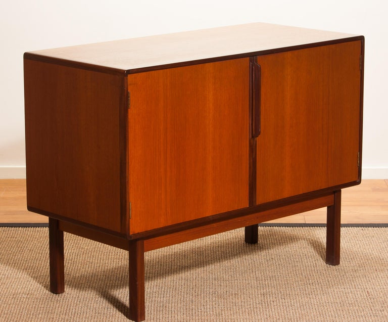 1960s, Teak And Palisander Small Sideboard Cabinet By Asko