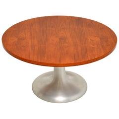 1960s Teak and Steel Vintage Coffee Table