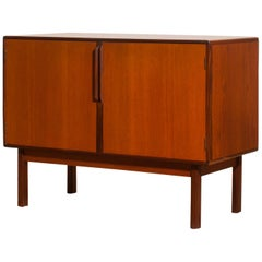 1960s, Teak and Walnut Small Sideboard Cabinet by Asko Finland