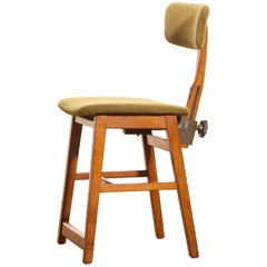 1960s, Teak and Wool Desk Chair by Âtvidabergs Sweden