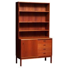 1960's Teak Bookcase Cabinet with Adjustable Shelfs Made in Denmark