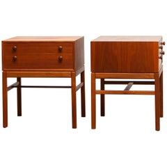 1960s, Teak Casino Nightstands, Side Tables by Engström & Myrstrand, Tingströms