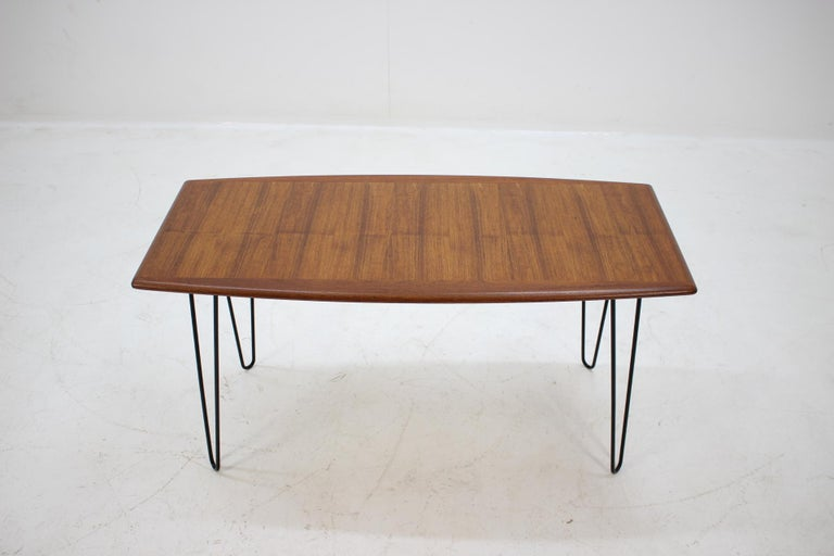 1960s Teak Coffee Table on Hairpin Legs at 1stdibs