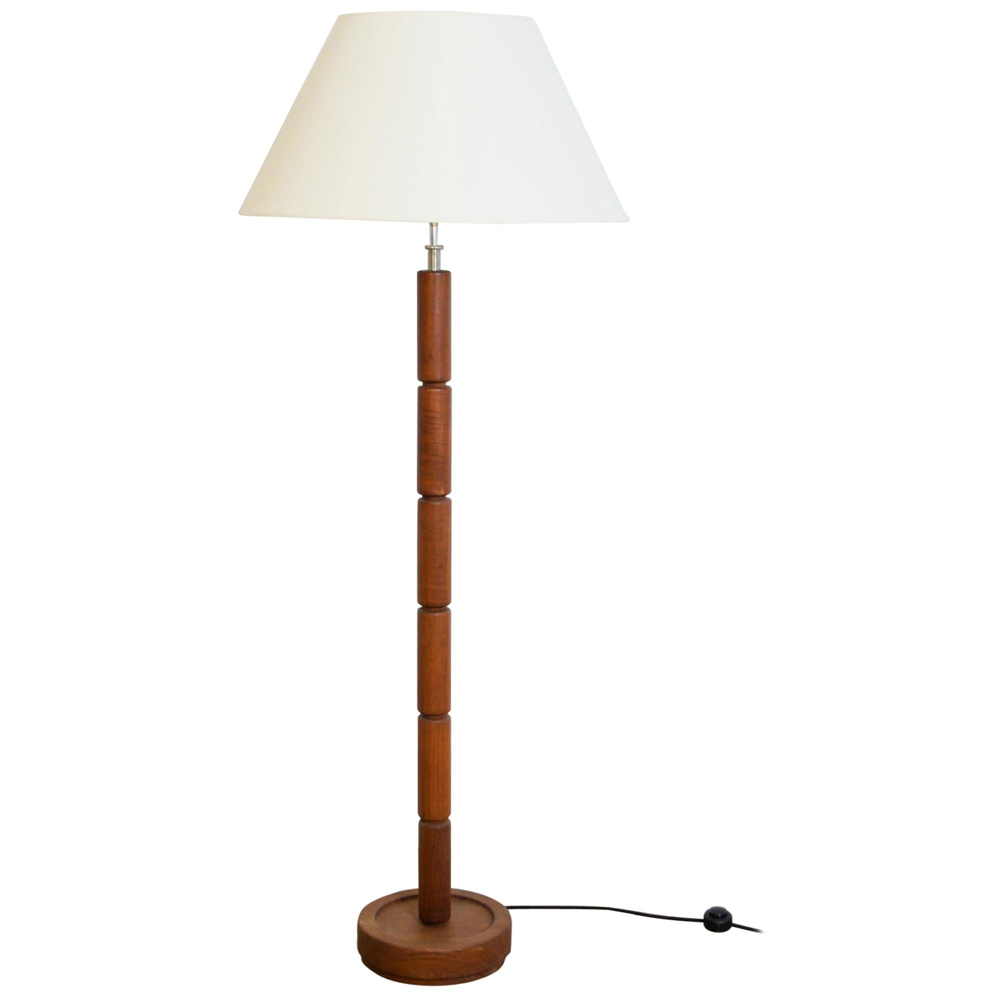 1960s Teak Danish Floor Lamp