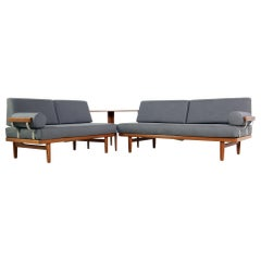 1960s Teak Daybed Sofa Set with Side Table Svensson & Sandstrom Danish Modern