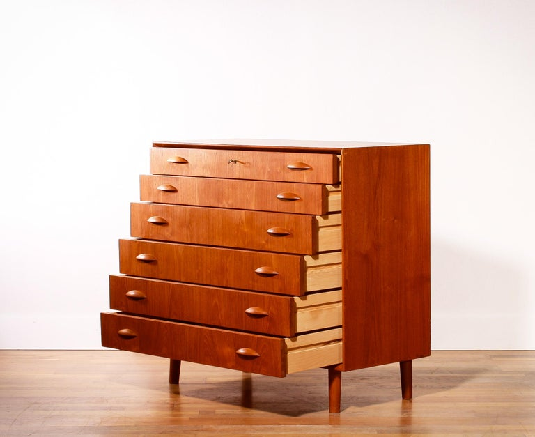 1960s, Teak Drawers Cabinet By Johannes Sorth For Sale At