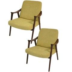 1960s Teak Easy Chairs by Ingmar Relling for Westnofa, Norway