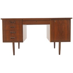 1960s Teak Free Standing Writing Desk, Denmark