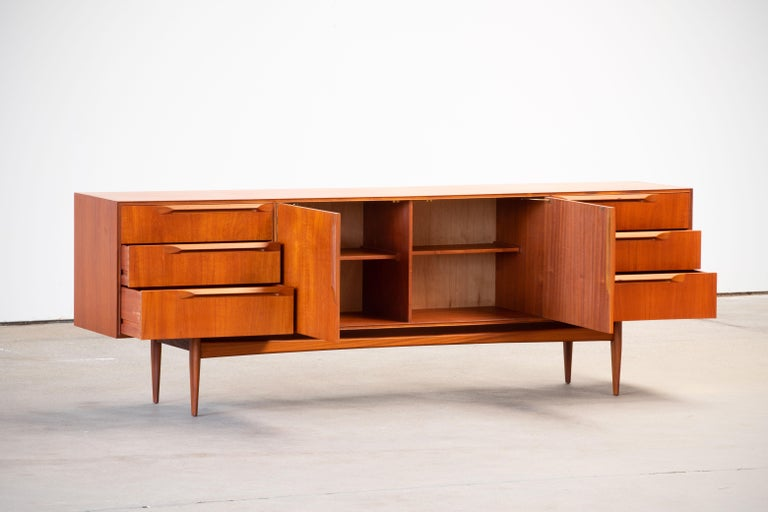 Mid-Century Modern 1960s Teak McIntosh Sideboard For Sale