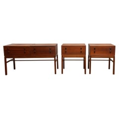 1960s, Teak Set of Three 'Casino' Side Tables by Engström & Myrstrand, Tingström