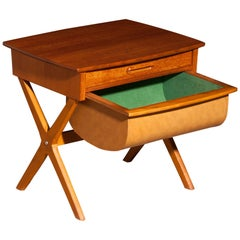 1960s, Teak Sewing, Side Table from Sweden