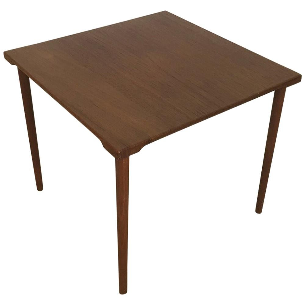 1960s Teak Side Table by Peter Hvidt & Orla Molgaard for France & Son Daverkosen