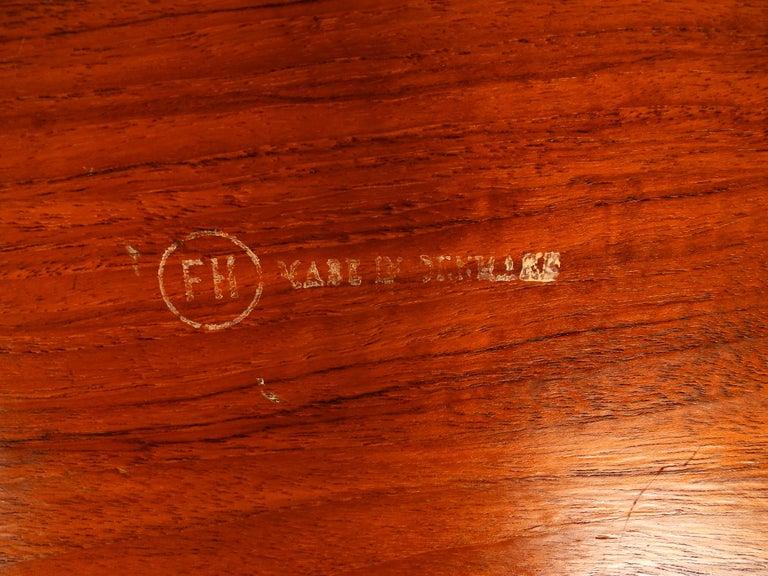 1960s Teak Side Table by Svend Age Willumsen & Hans Engholm for Fritz Hansen For Sale 3