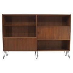 1960s Teak Upcycled Bookcase Cabinet, Denmark