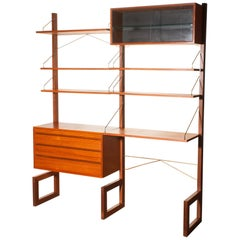 1960s, Teak Wall System Unit by Poul Cadovius for Cado, Denmark