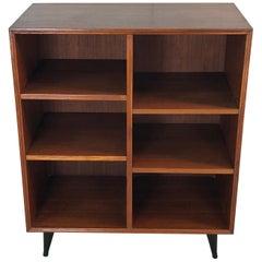 1960s Teak Wood Adjustable Shelf Bookcase