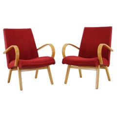 1960s Thon/Thonet Bentwood Lounge Chair, Set of 2