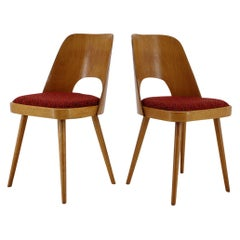 1960s Thon/Thonet Oak Dining Chairs, Set of 2
