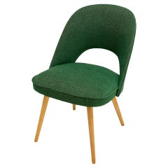 1960s Thonet Chairs, Reupholstered in Juicy Green Fabric, Set of 2