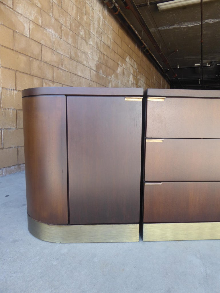 1960s Three-Part Credenza by Milo Baughman for Glenn of California For Sale 8