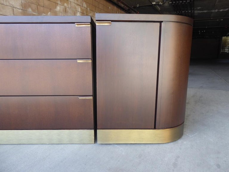 1960s Three-Part Credenza by Milo Baughman for Glenn of California For Sale 10