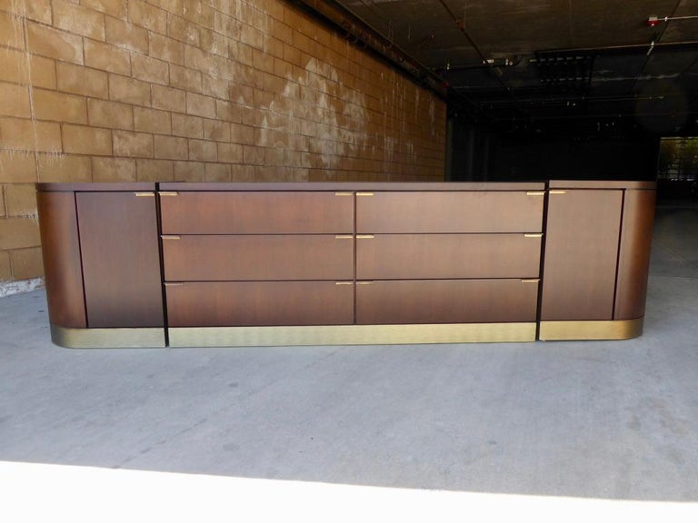 Mid-Century Modern 1960s Three-Part Credenza by Milo Baughman for Glenn of California For Sale