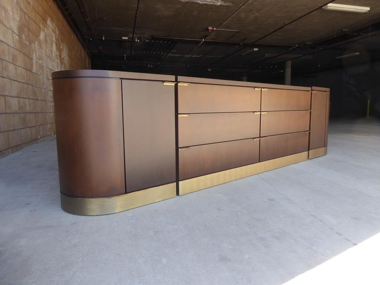 American 1960s Three-Part Credenza by Milo Baughman for Glenn of California For Sale