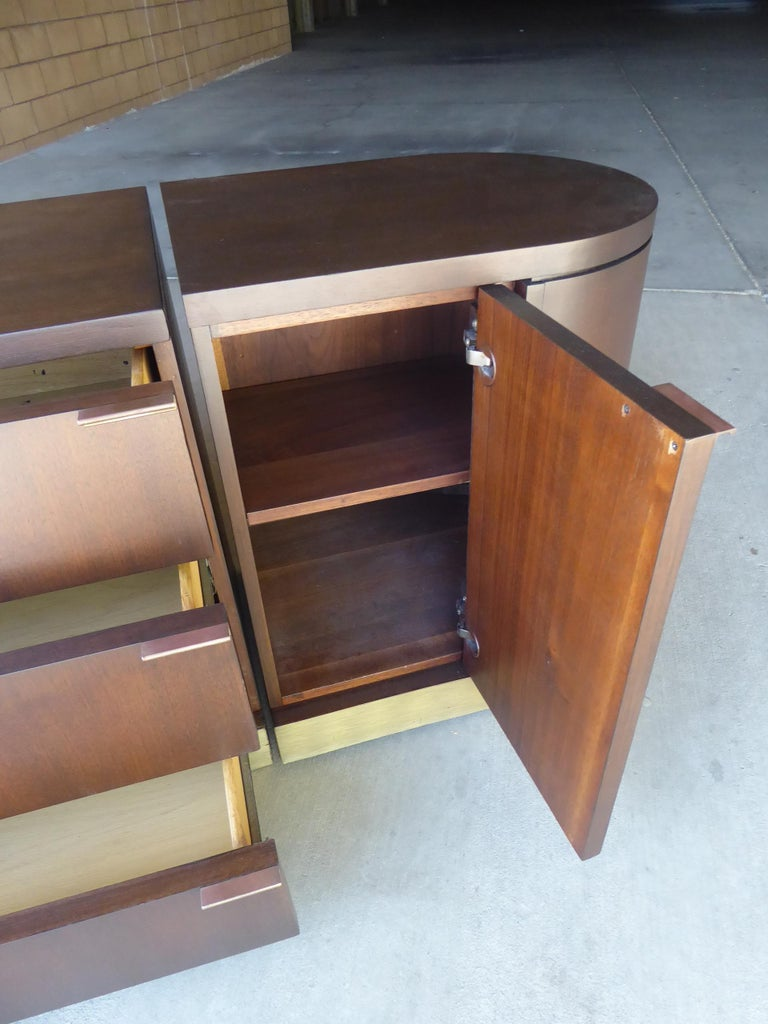 1960s Three-Part Credenza by Milo Baughman for Glenn of California For Sale 1