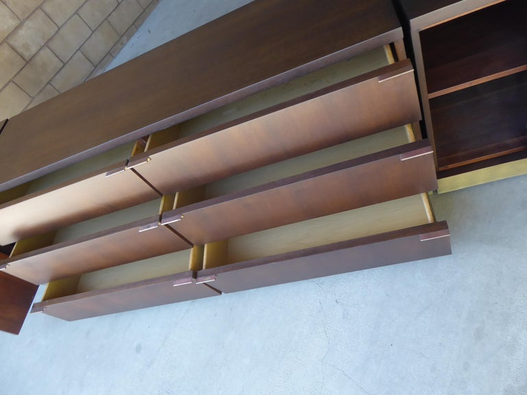 1960s Three-Part Credenza by Milo Baughman for Glenn of California For Sale 2