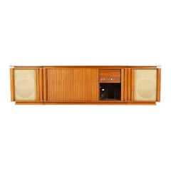 1960s Three-Piece Walnut Stereo Cabinet by Barzilay