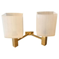 1960s Three Stilnovo Style Mid-Century Modern Brass Italian Wall Sconces