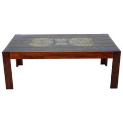 1960s Tile Coffee Table by Mobelintarsia, Denmark