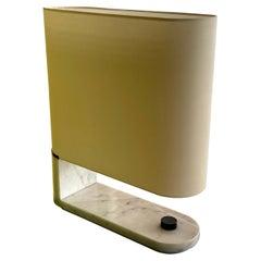 1960's to 1970's Stilnovo Oval Marble Table or Desk Lamp