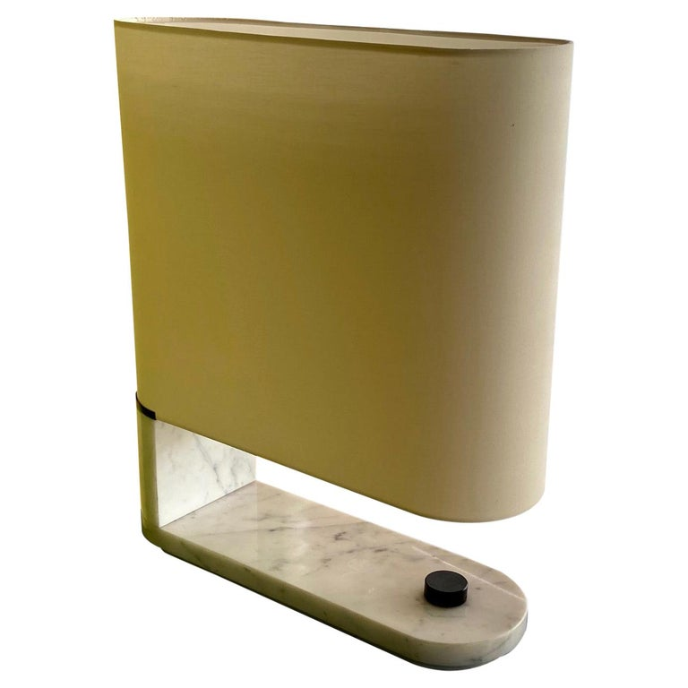 1960's to 1970's Stilnovo Oval Marble Table or Desk Lamp For Sale