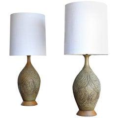 1960s Tom McMillin Ceramic Lamps