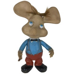 1960s Topo Gigio Mouse Rubber Squeak Toy Made in Italy