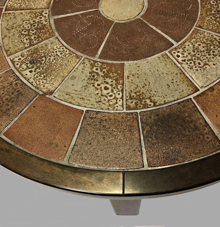 Scandinavian Modern 1960s Tue Poulsen Tile Topped Coffee Table in Tanned Oak For Sale