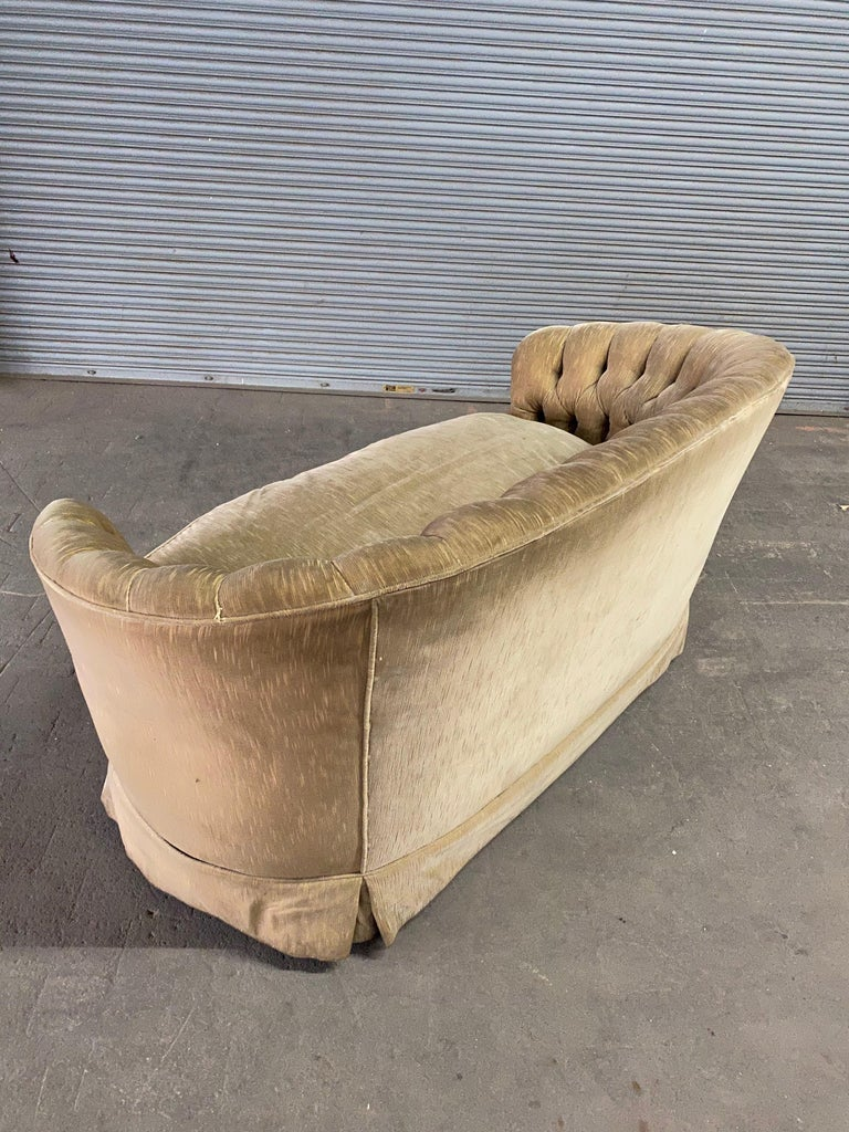 1960s Tufted Sofa with Loose Seat Cushion For Sale 3