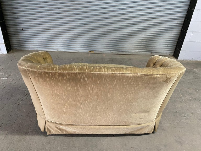 1960s Tufted Sofa with Loose Seat Cushion For Sale 4