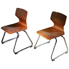1960s Two Pieces of Adam Stegner's Chairs Designed for Elmar Flototto