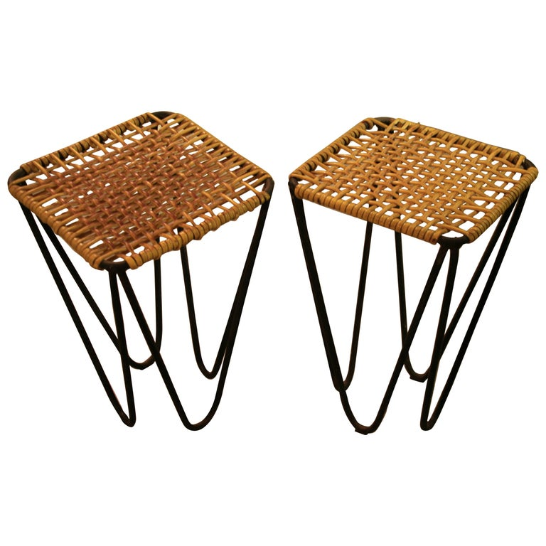 1960s Two Stools Designed by Władysław Wołkowski For Sale