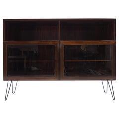 1960s Upcycled Palisander/Glass Bookcase, Denmark
