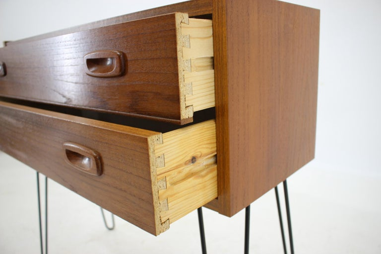 1960s Upcycled Teak Chest of Drawers, Denmark In Good Condition For Sale In Praha, CZ