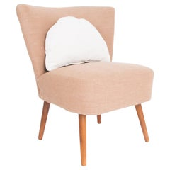 1960s Upholstered French Cocktail Chair